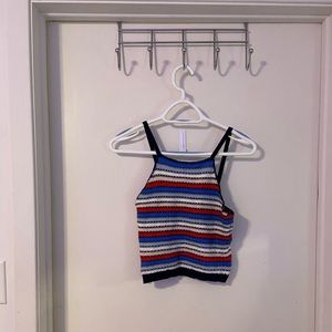 Crocheted Striped Tanktop